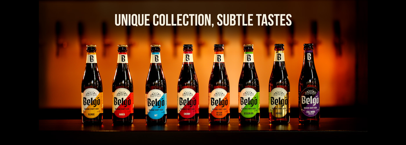 Belgo unique collection of craft beers with subtle tastes
